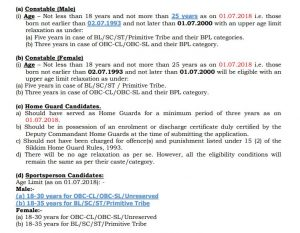 Delhi Police Constable Recruitment 2018 Age Limit