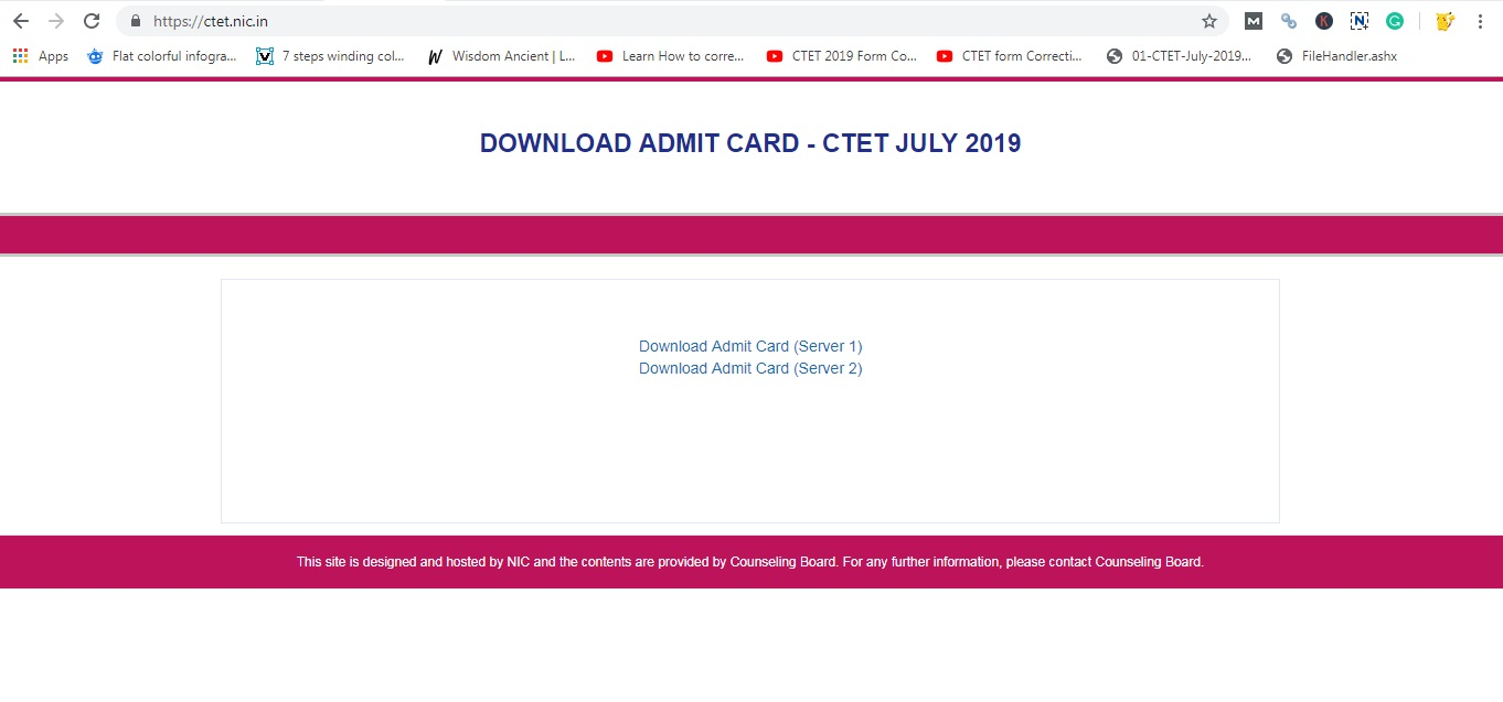 Visit official website of CTET